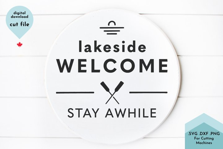 Lakeside Welcome SVG, Lake House SVG, Vacation svg