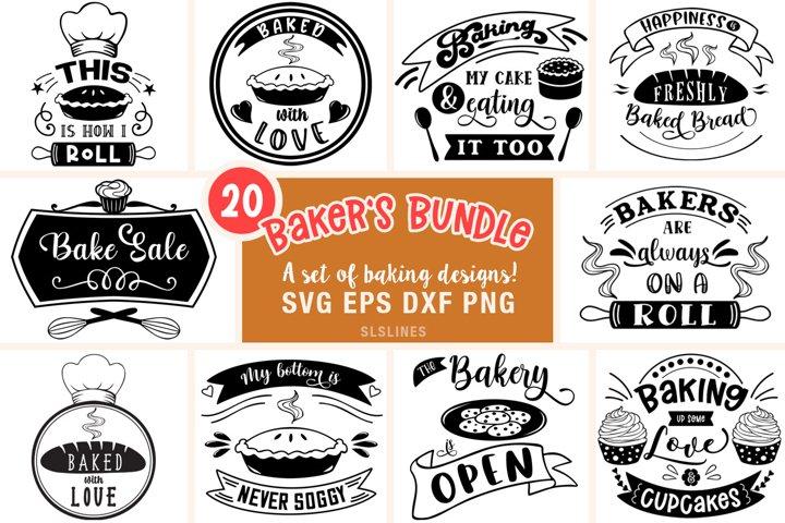 Baking Bundle SVG - Designs for Bakers PNG