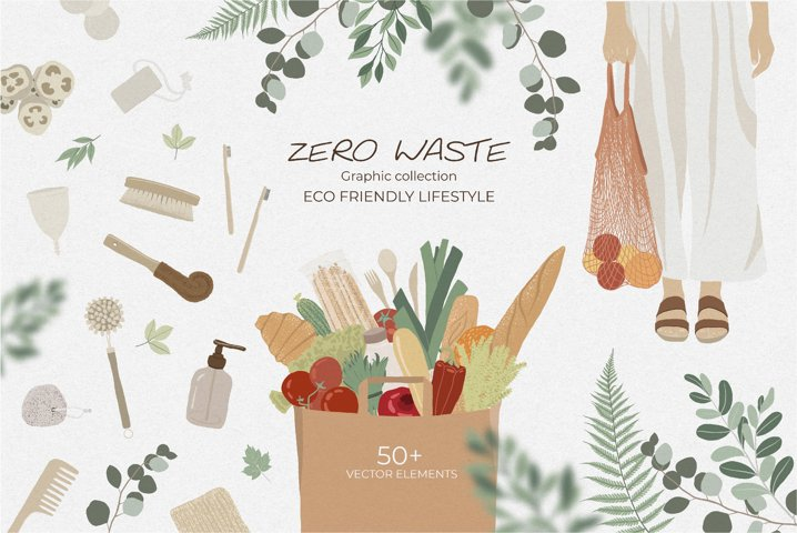 Zero Waste vector graphic collection