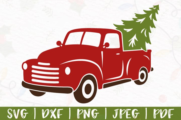 Christmas truck svg, Christmas svg, Red Truck svg, dxf, png
