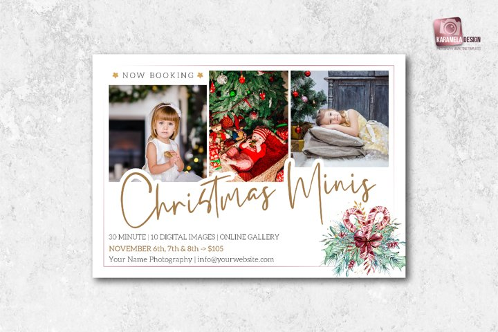 Christmas Mini Sessions Marketing Board