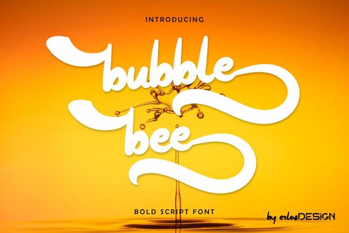 bubble bee font