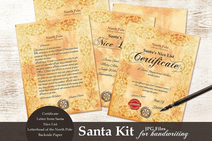 Santa Kit - Printable - for Handwriting