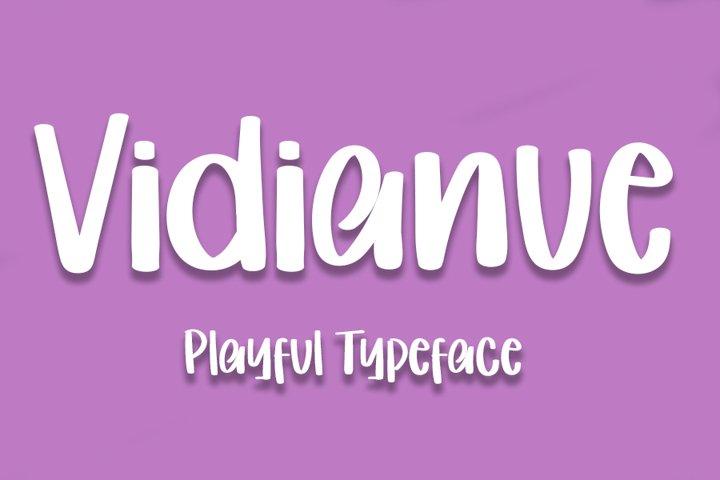 Vidianue - Playful Typeface Font