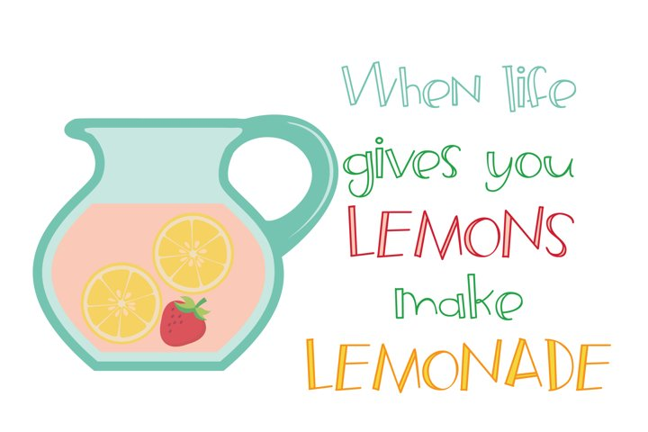 ZP Frozen Lemonade - Free Font of The Week Design1