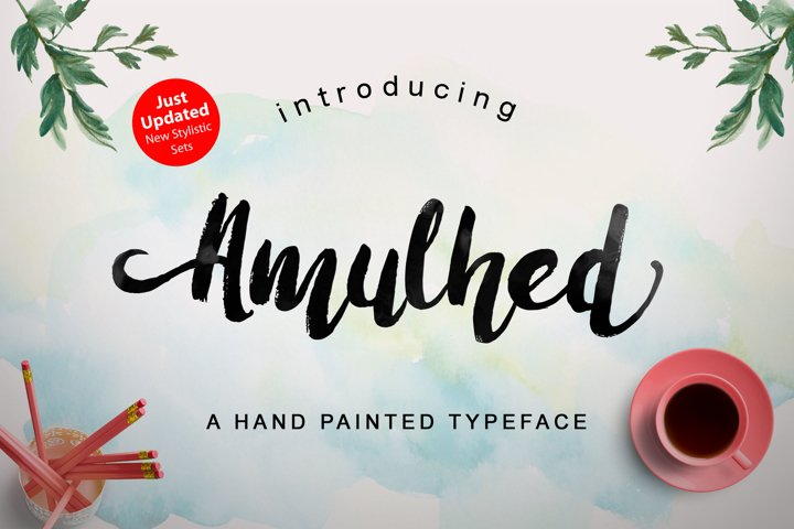 Amulhed Brush - Free Font of The Week Font