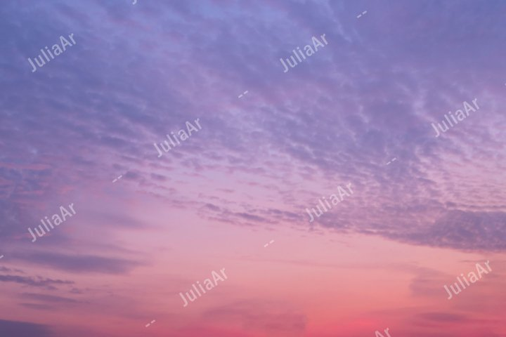 Purple or pink sunset sky