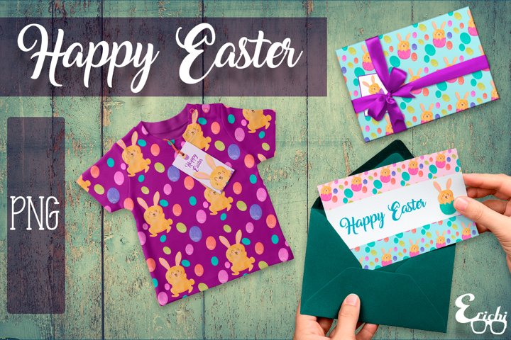 Happy Easter / PNG / Clipart / Sublimation / Patterns