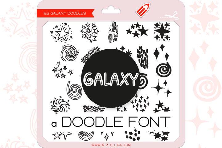 Galaxy Doodles - Dingbats Font