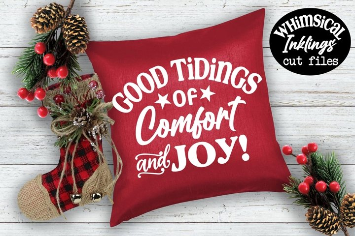 Comfort and Joy-Christmas SVG example