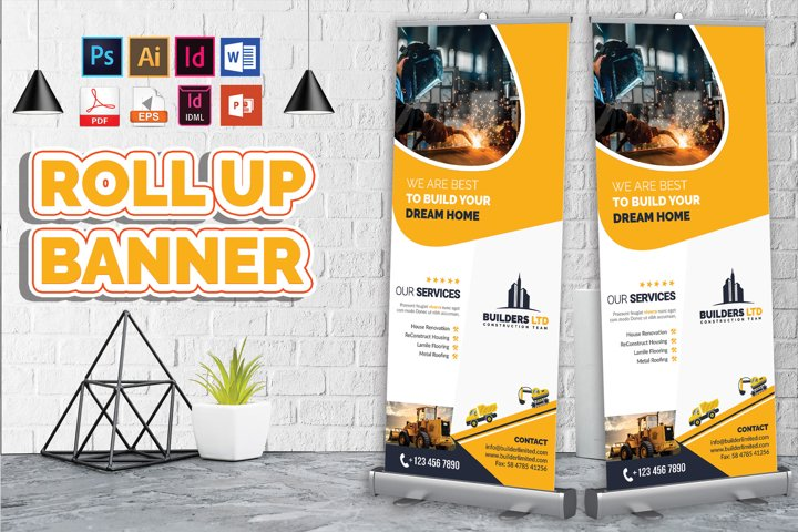 Construction Roll Up Banner Vol-06