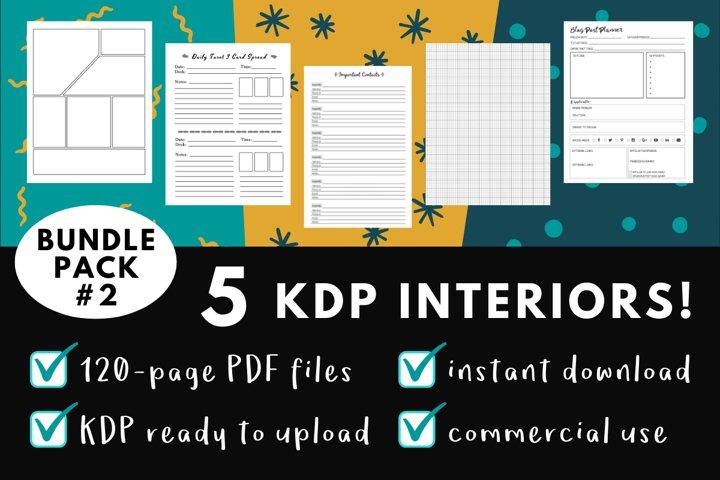 KDP Interior Pack #2 - 5 Templates!