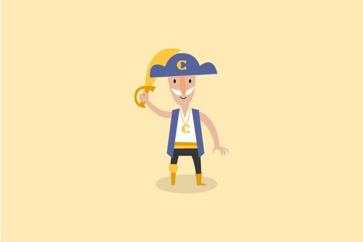 Captain pirate fisherman