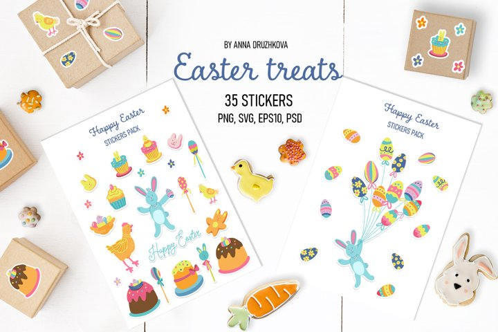 Easter treats stickers