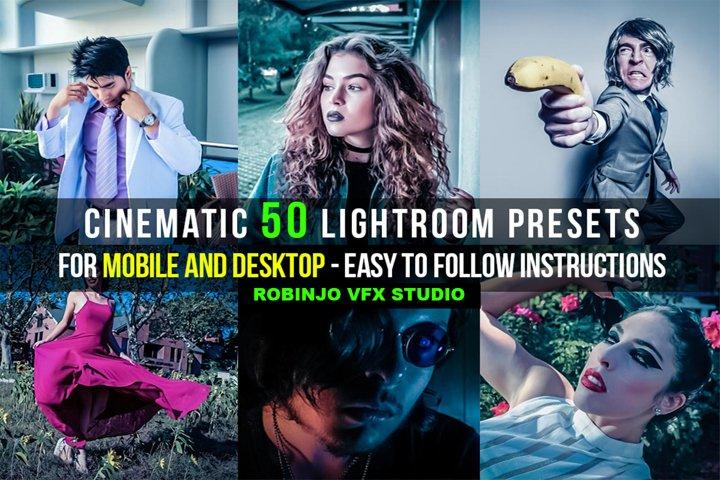 Cinematic 50 Lightroom Presets