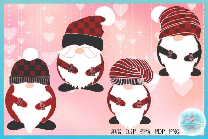 Valentines SVG | Plaid Gnomes Bundle SVG