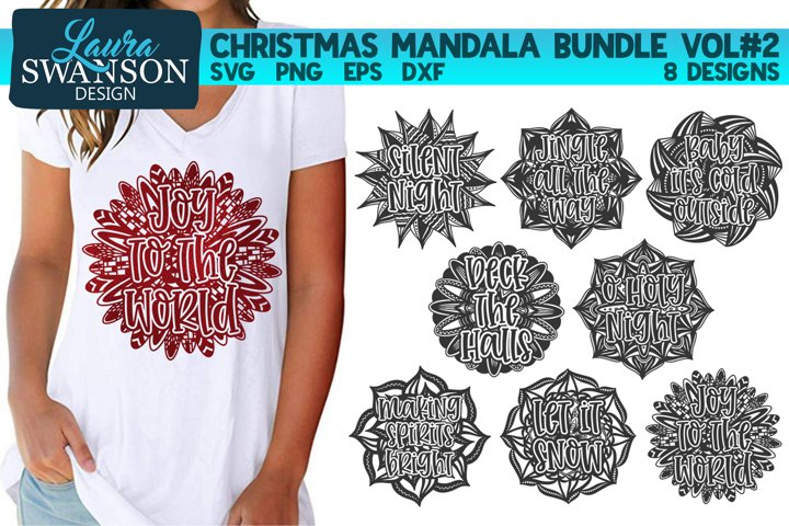 Christmas Mandala Bundle Vol #2 - SVG, PNG, EPS, DXF