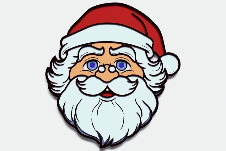 Multilayer Santa Claus Mandala, Vector File for Cutting