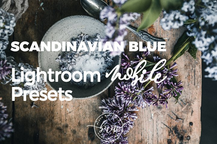 Scandinavian Blue Lightroom Mobile Preset Bundle
