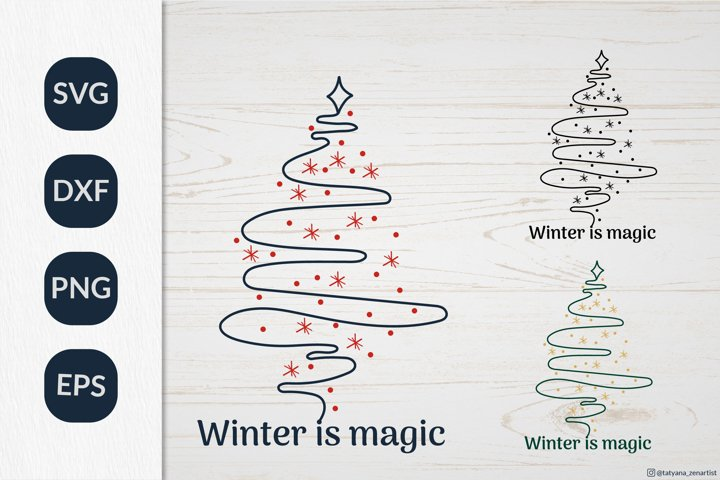 Christmas Tree SVG graphic, Christmas ornament SVG file