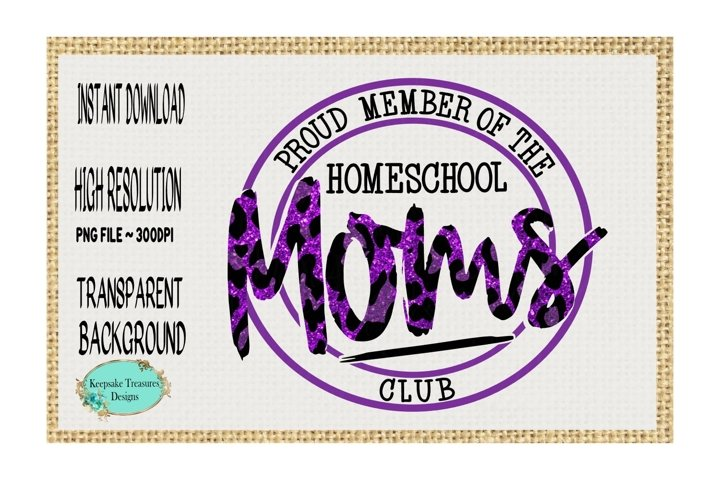 Homeschool Moms Club, Sublimation Design