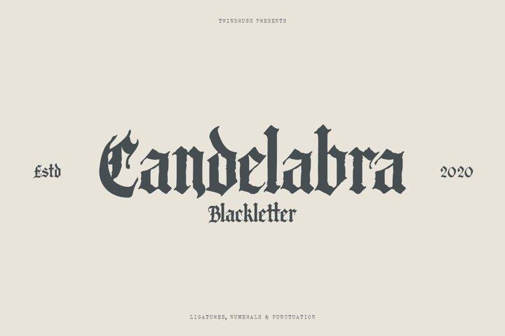 Candelabra Blackletter Font