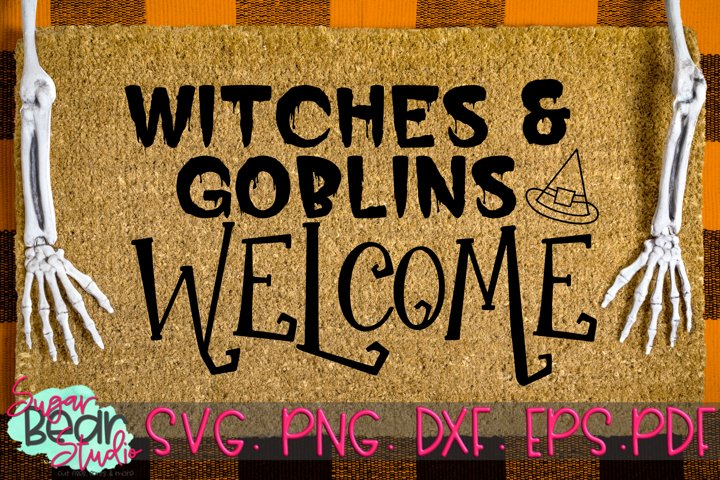 Witches and Goblins Welcome - A Doormat SVG