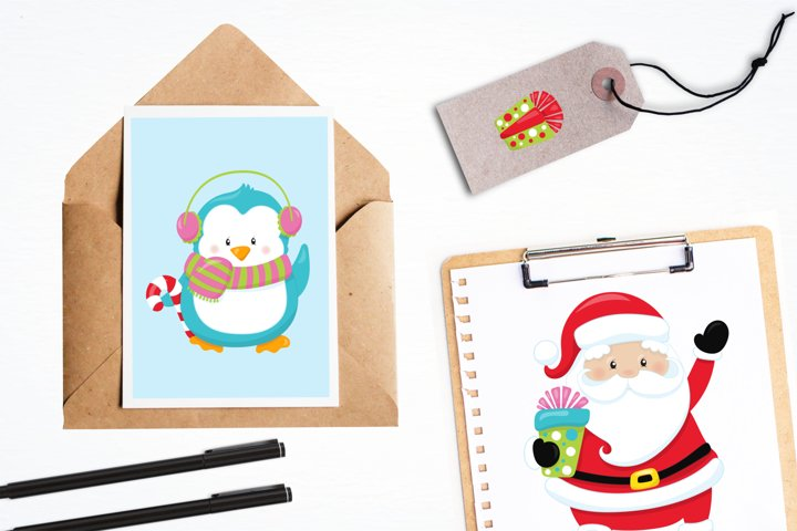 Christmas Friends graphics and illustrations - Free Design of The Week Design2
