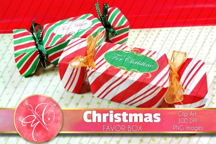 Christmas Candy Favor Boxes / Printable / EDIT TEXT