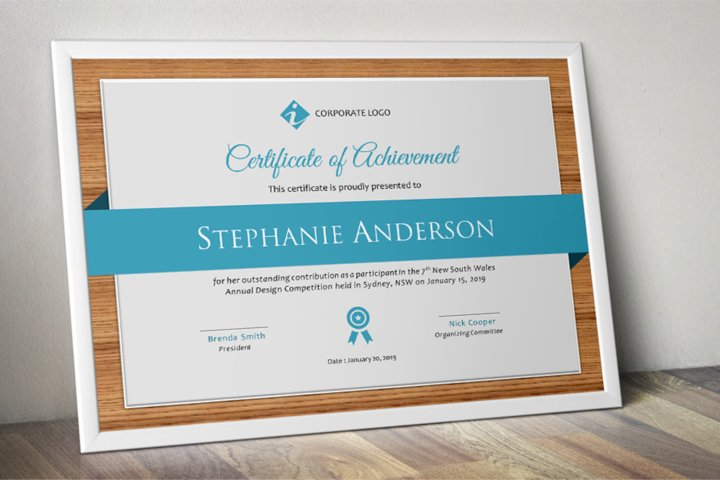 Elegant Modern Word Event Certificate Template
