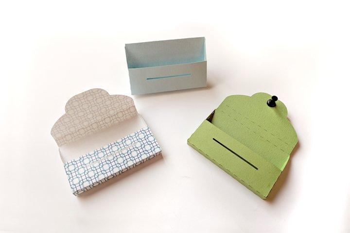 Paper Business Card Holder SVG & PDF Design