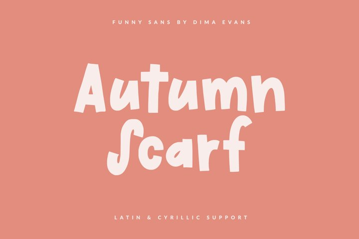 Autumn Scarf Cute Latin/Cyrillic