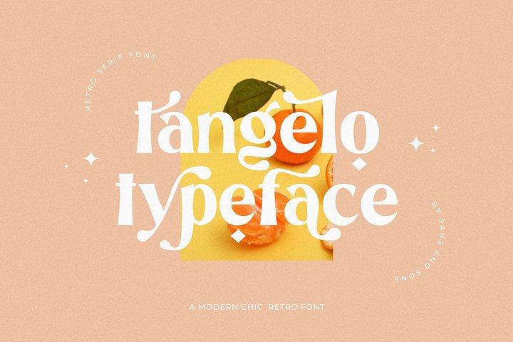 Tangelo - Retro Font