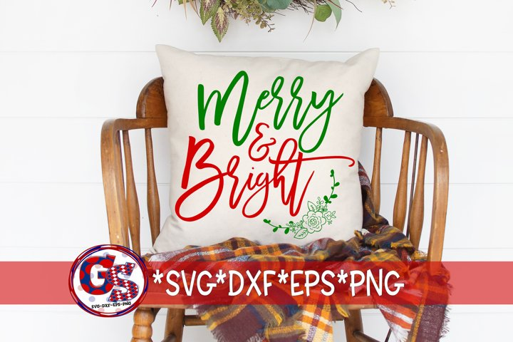 Christmas SVG | Merry & Bright SvG DXF EPS PNG