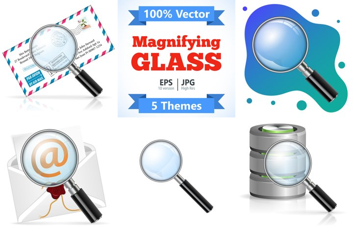 Magnifying Glass Search Concept