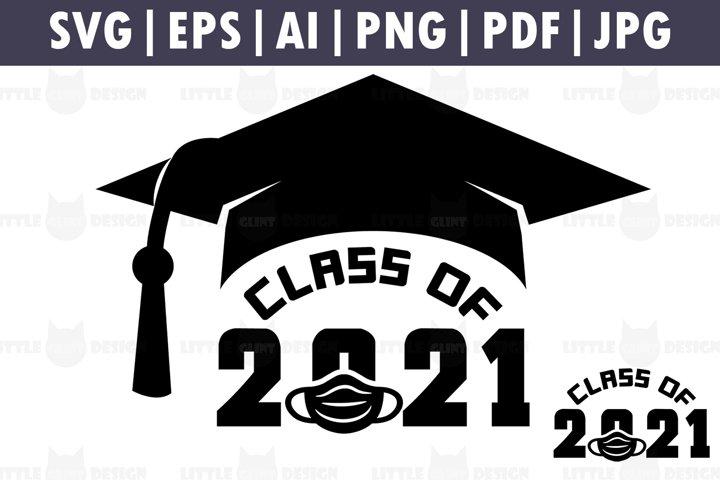 Class of 2021 Mask SVG, Graduation Cake Topper, Clip Art