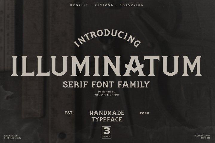 illuminatum - Serif font family