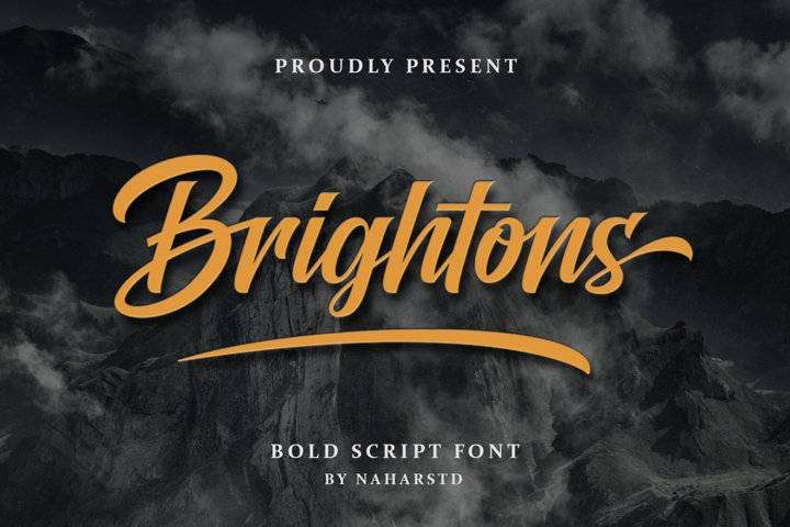 Brightons - Modern Script Font
