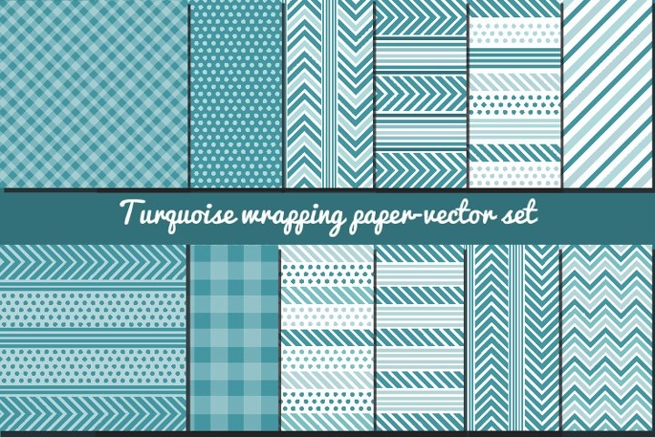 turquoise wrapping papers