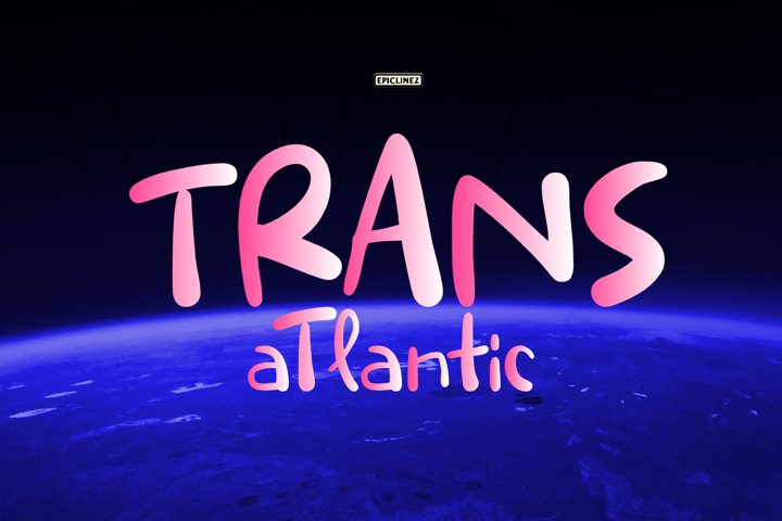 Trans Atlantic - A Fun Handwritten Font