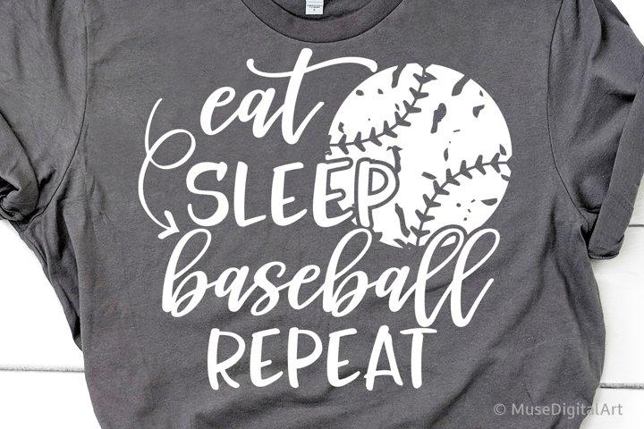 Eat Sleep Baseball Repeat Svg, Baseball Svg, Baseball Season