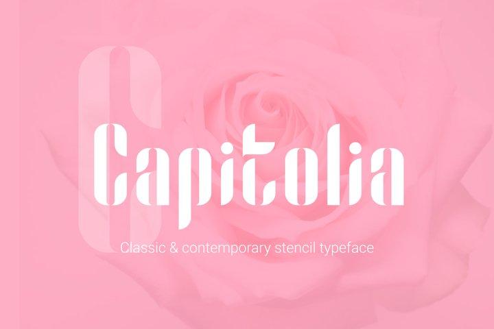 Capitolia Stencil Typeface