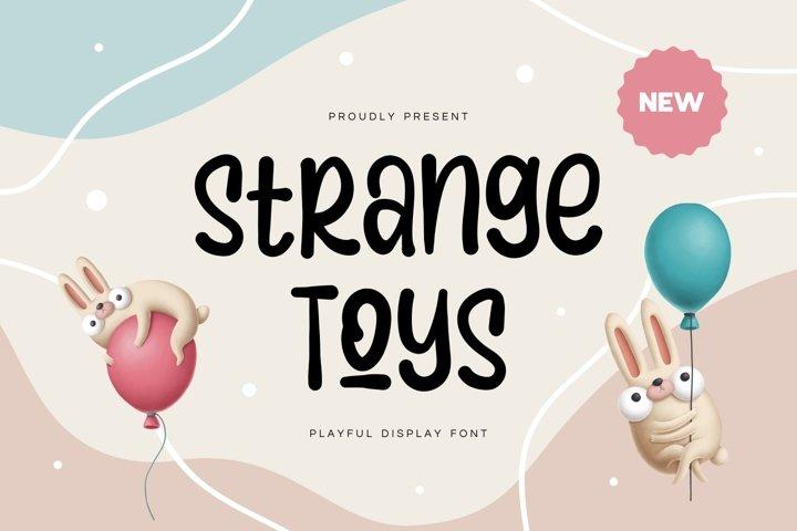 Strange Toy - Playful Display Font