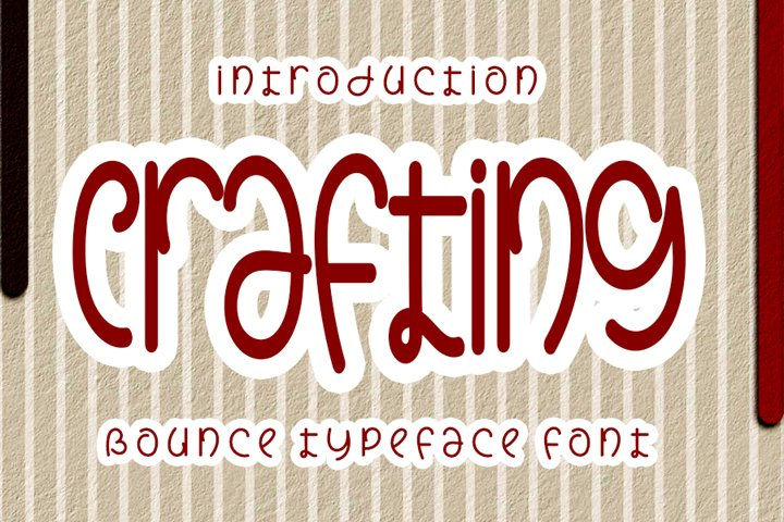 Crafting - Unique Handwrittwn Font