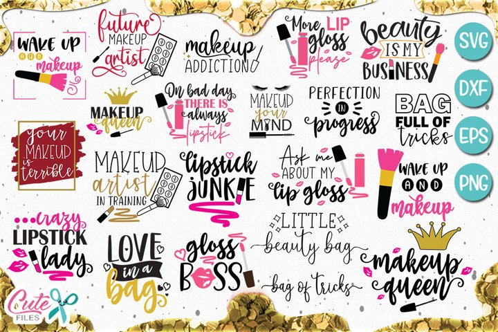Makeup and beauty bundle svg for crafter