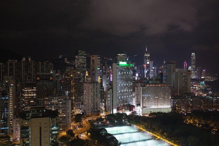 Panorama of Hong Kong at night