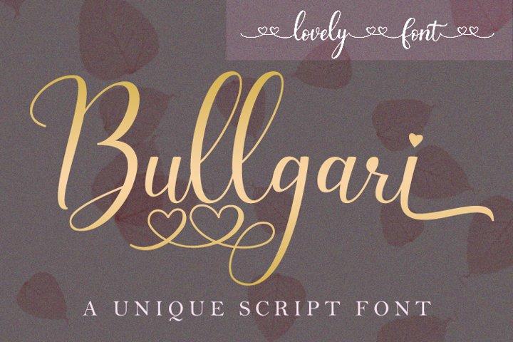 Bullgari a lovely script font