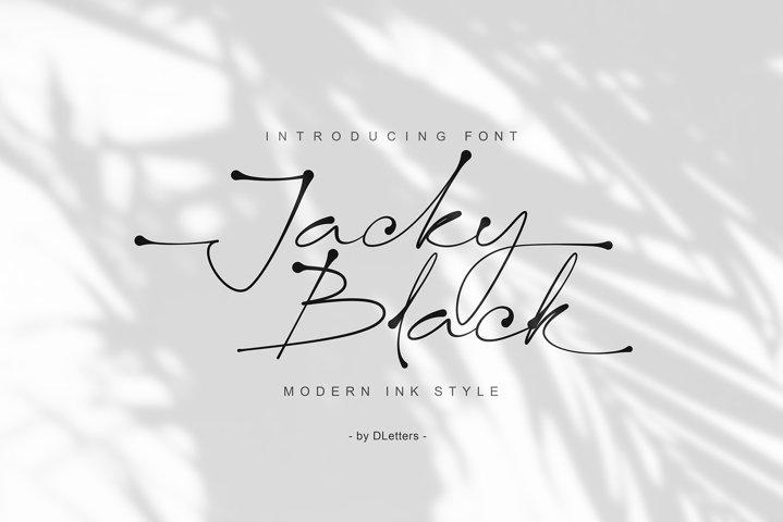 Jacky Black | Handwritten ink style