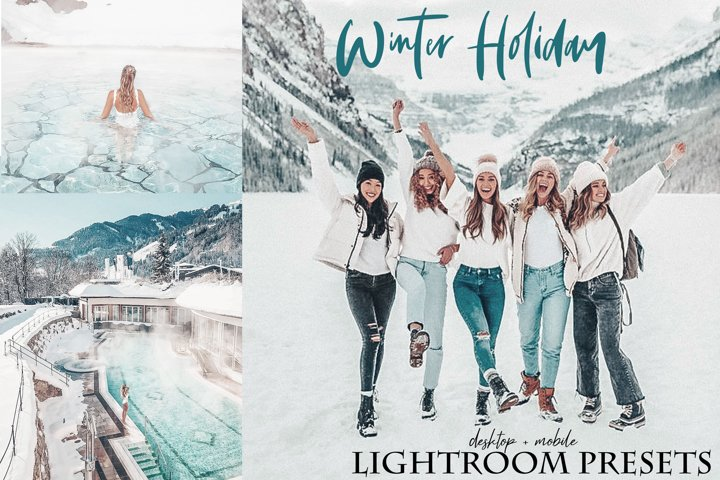 Winter holiday Lightroom Presets