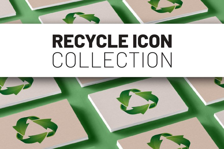 Recycle icon collection.
